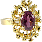Vintage 14K Gold Pink Tourmaline Ring