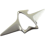 Vintage Georg Jensen Sterling Silver Brooch / Pin 340 Designed By Henning Koppel