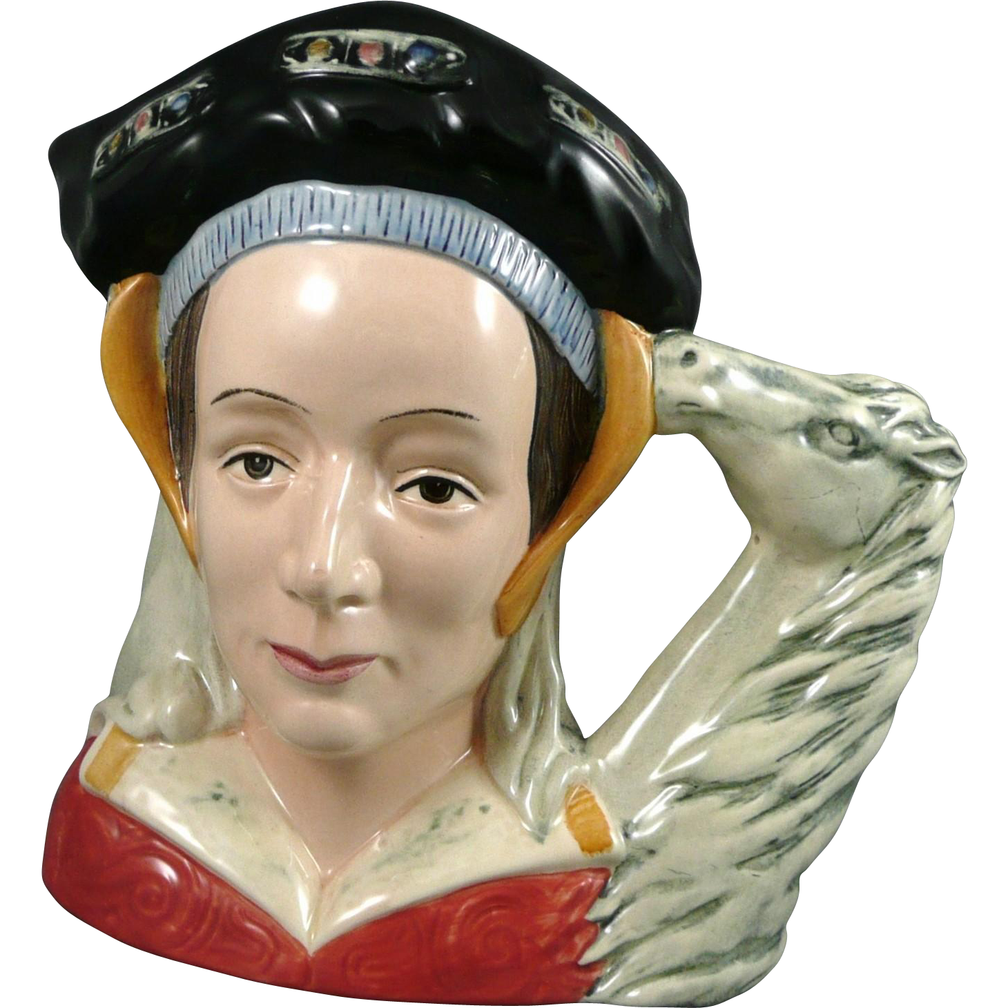 Vintage Royal Doulton Character Jug  Anne of Cleves D6653 Ears Down