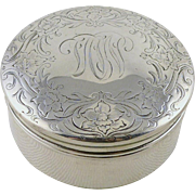 Vintage Art Deco Gorham Sterling Silver Trinket Box Or Dresser Jar