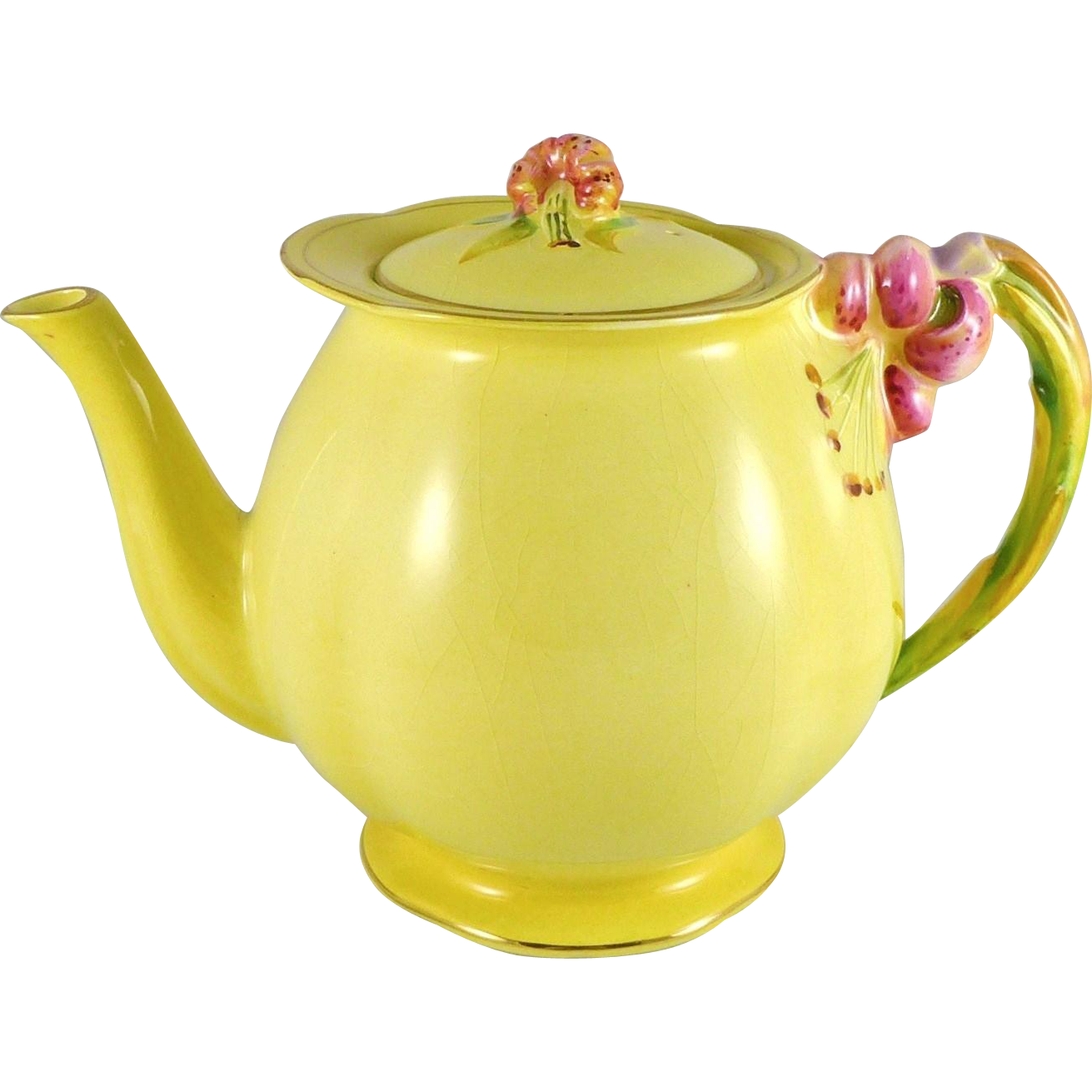 Vintage Royal Winton Tiger Lily Teapot