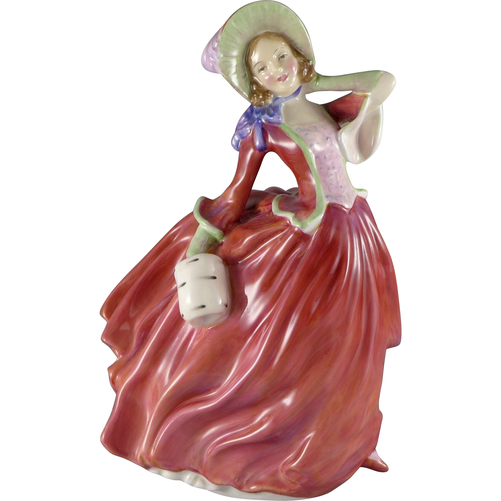 Vintage Royal Doulton Figurine Autumn Breezes HN1934