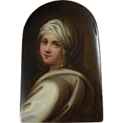 Antique HP Porcelain Portrait Of Beatrice Cenci