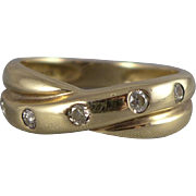 Vintage 14K Gold Diamond Band Ring - 0.15 CTW