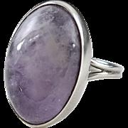 Vintage Sterling Silver Miguel Garcia Martinez Amethyst Ring