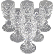 Vintage Waterford Crystal Boyne Cordial Glasses - Set of Six