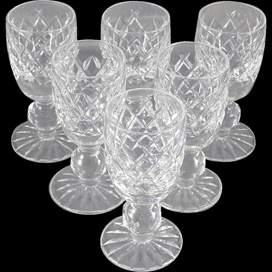 Vintage Waterford Crystal Boyne Cordial Glasses - Set of Six