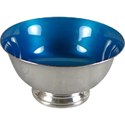 Vintage Sterling Silver Enamel Bowl By Reed and Barton - Hard To Find