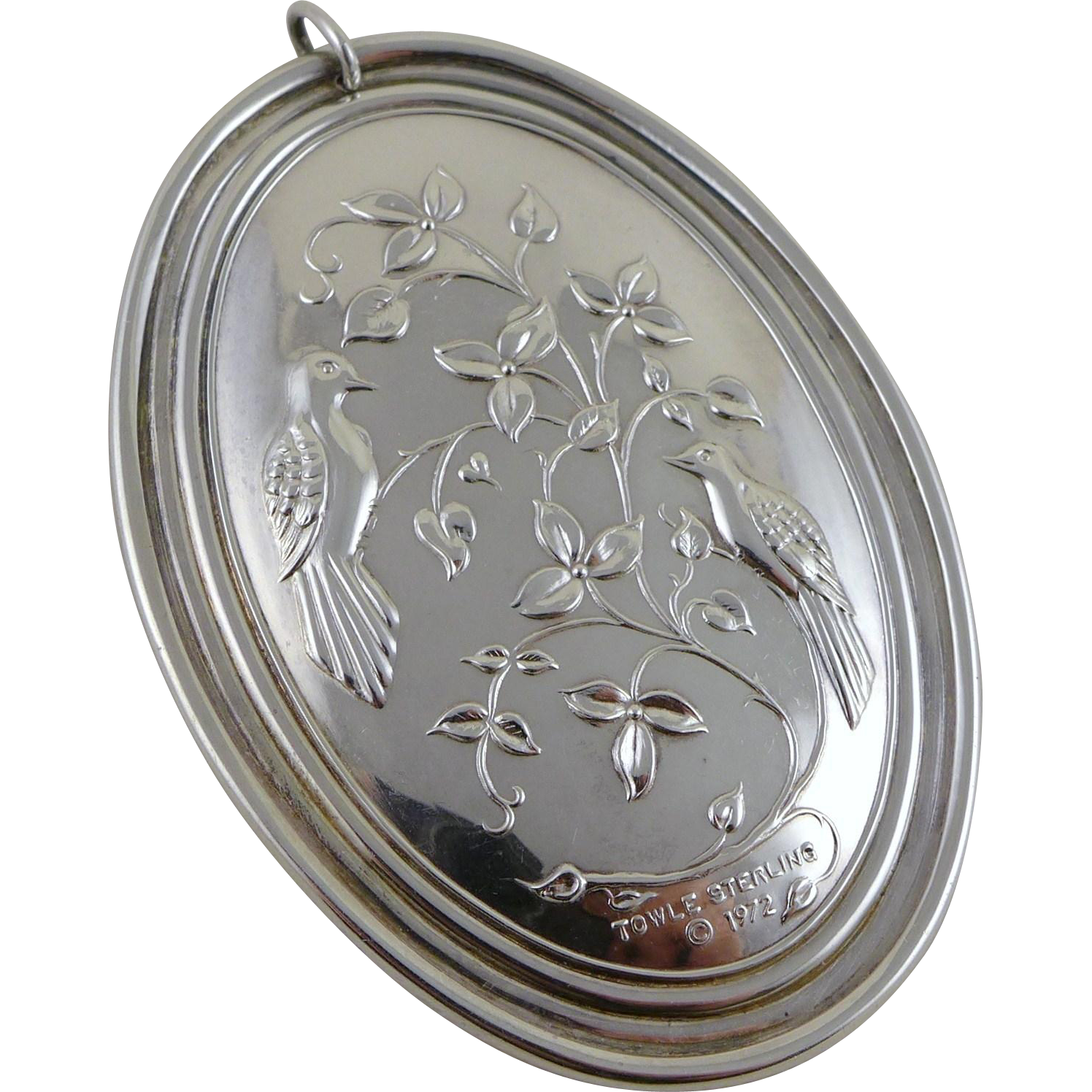 Vintage Towle Sterling Silver Ornament / Pendant 1972 - The Twelve Days of Christmas Series