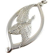 Vintage Wallace Sterling Silver Bird Ornament / Pendant, 1974