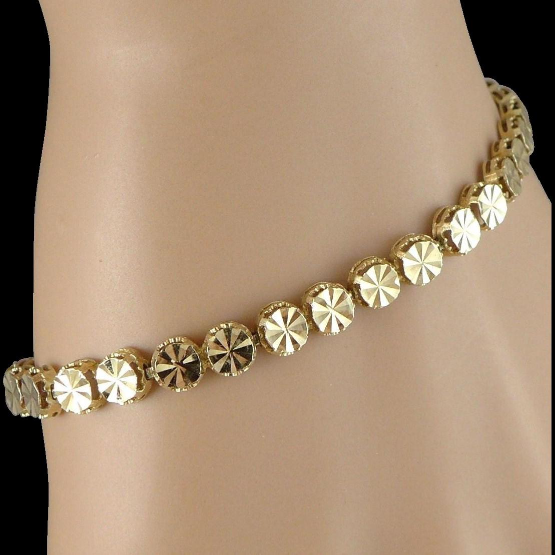 Vintage Beverly Hills 14k Gold Bracelet