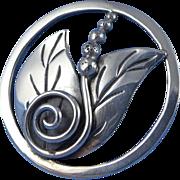 Vintage Sterling Silver Miguel Garcia Martinez Brooch / Pin