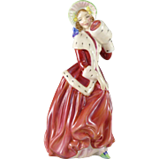 Vintage Royal Doulton Christmas Morn Figurine, Lady