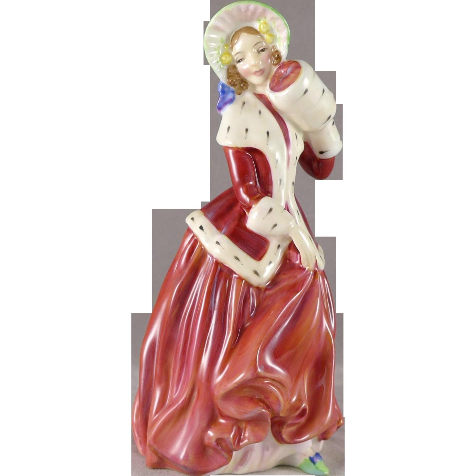 Vintage Royal Doulton Christmas Morn Figurine, Lady