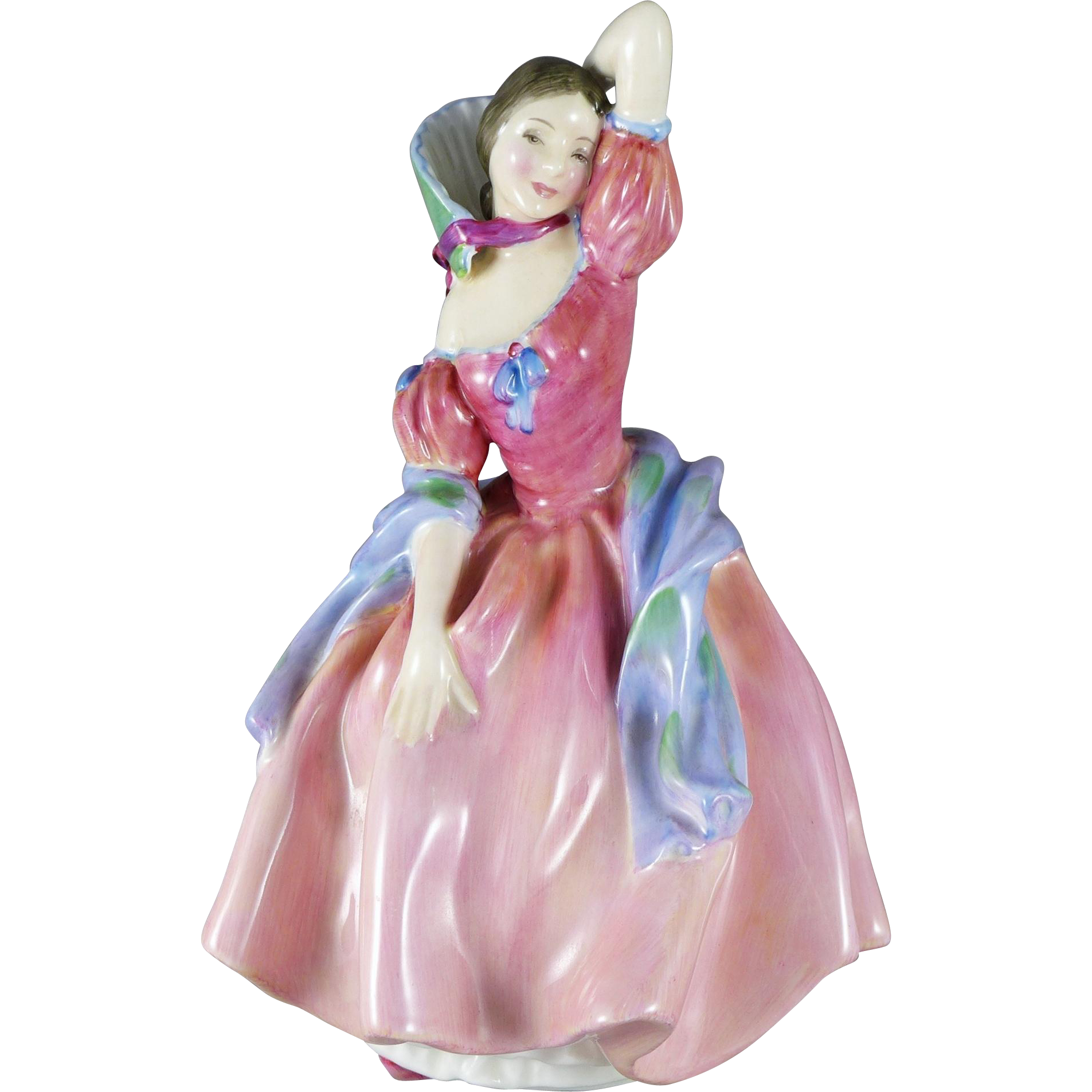 Vintage Royal Doulton May Time Figurine HN2113, Lady In Pink