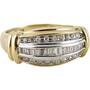 Vintage 10K Gold Diamond Band Ring