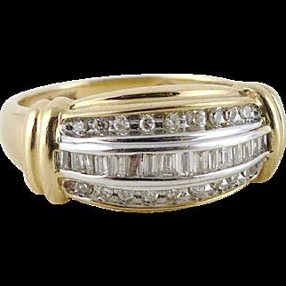 Vintage 10K Gold Diamond Band Ring