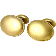 Antique 10K Yellow Gold Cufflinks