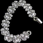 Sterling Silver Dogwood Bracelet, Vintage by Beau