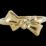 Vintage 14K Gold Bow Ring
