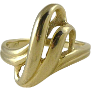 Vintage 14K Gold Freeform Ring