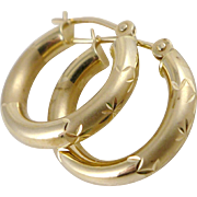 Vintage 14K Hoop Earrings From Israel