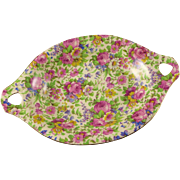 Royal Winton Summertime Dish, Handled Chintz Pattern