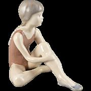 Royal Copenhagen Figurine, Vintage Ballerina, Ballet Dancer Girl