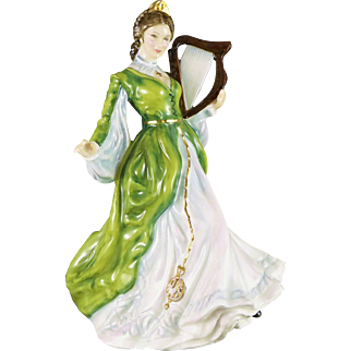 Royal Doulton Figurine, Ireland HN3628, Vintage Figure From Ladies of The British Isles Collection