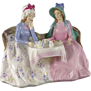 Royal Doulton Figurine, Afternoon Tea HN1747, Vintage c. 1935