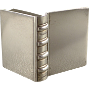 Tiffany Sterling Silver Pill Box, Vintage Pillbox In Book Form