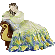 Vintage Royal Doulton Figurine, Solitude HN2810, Young Lady