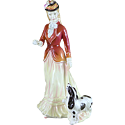 Vintage Royal Doulton Sarah Figurine, HN3384, Porcelain Lady With Dog