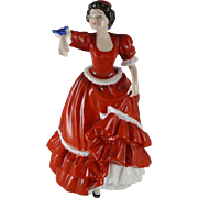 Vintage Royal Doulton Figurine Entitled Pauline HN3643, Lady And Bird