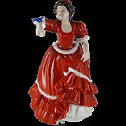 Vintage Royal Doulton Figurine Entitled Pauline HN3643, Lady And Bird