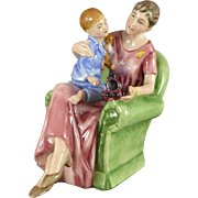 Royal Doulton Figurine Entitled When I Was Young, HN3457, Mother And Child