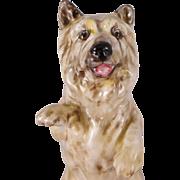 Royal Doulton Dog Figurine, Vintage Porcelain Cairn Terrier  HN2589