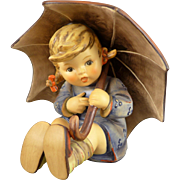 Hummel Umbrella Girl TMK6, Vintage Figurine, Large Size 4.75 Inches