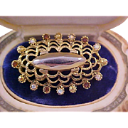 OSCAR de la RENTA Impeccable KEEPSAKE Oval Paste Brooch