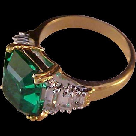 Cubic Zirconia Lab Ruby Ring