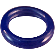 ART DECO 1930's Periwinkle Blue Celluloid Ring ~ Size 6