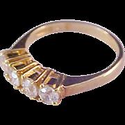 Mid Century Signed Cubic Zirconia WEDDING Band (Ring)