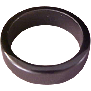 VINTAGE COLLECTOR'S~Hematite Band Ring ~Size 6