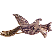 Lovely EAGLE in FLIGHT~Trademark (Sprey Hotels) Gold Plate Brooch