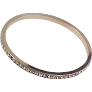 AVON'S BEST~Pave DIAMANTE Eternity Gold Plate Bangle