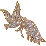 Charming Pheasant Bird~Multi Glittered Stones Brooch