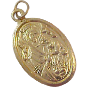 OUR lady  of PERPETUAL HELP ~ Gold Plate Medal - Free Shipping USA