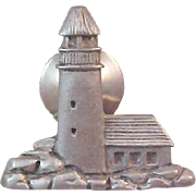 Charming Pewter  LIGHTHOUSE Lapel-Tac Pin