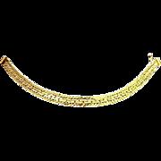 Demure KREMENTZ 18K  Gold Fill Mesh Bracelet