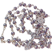 Double-Capped Hematite ROSARY~6MM
